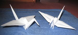 Paper Cranes by Spacer176