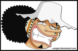 Usopp funny face by SergiART