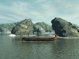 Greek Trireme by Runewitch