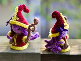 League of Legends - Lulu Amigurumi Doll Side View by Sushumo