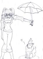 Rainsoaked Admiration by RozeUKun