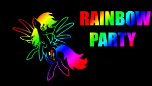 Rainbow Party Wallpaper by keeveew