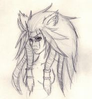 Day 250 - Character Concept: The Wolf Mother by Chame