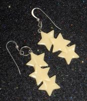 Glow-in-the-Dark Star Earrings by Geisha-Neko