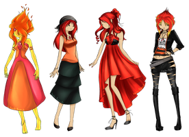 Flame Princess~ Kiriban for Master23membrillita by NarukoMegpoid