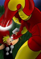 THOR VS IRONMAN by Mister-23