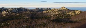A wide view of North Velebit by ivancoric