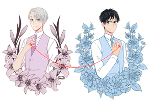 Yuri x Victor rings by MaryCat83
