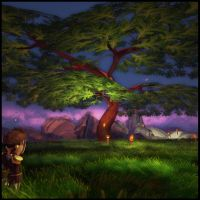 oak tree by Syncrasis