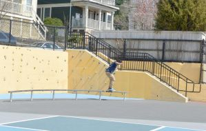 The Skateboarder On the Rail by Miss-Tbones