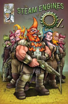 The Steam Engines of Oz Issue 02 Cover by LastBard