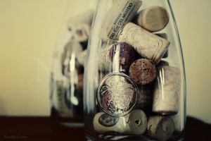 Corks in old milk bottles.. by ncorso