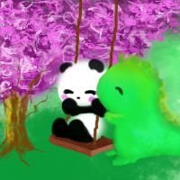 Dino and Panda -Swings by MelodicInterval