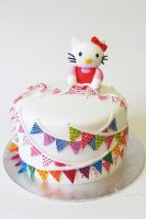 Hello Kitty Cake by thesearejessicakes