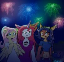 Fireworks for Furry Independence :3 by Axel-DK64