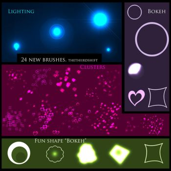New Bokeh-Lighting Brushes by thethiirdshift