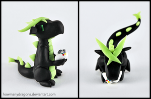 Black Xbox Gamer Dragon by HowManyDragons