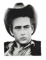 James Dean charcoal drawing. by Art-SamiKahelin