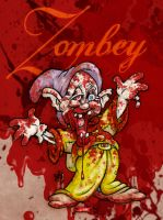 Zombey the 8th dwarf splatter by Gib-Pinups-And-Toons