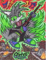 .:FanART Request:. Rock On Grief The Clone by AceOfSpeed94