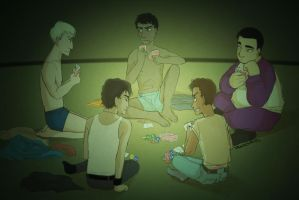 The heroes of strip poker by IVDP