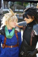 Zack and Cloud - Best friends by Maryru