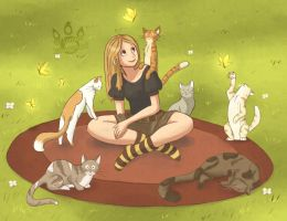 Cat Lady by tamaraR