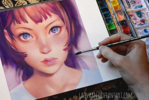 Gyoushi by KR0NPR1NZ in Watercolor + VIDEO by Laovaan