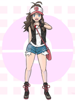 Pokemon trainer Hilda by chris-re5