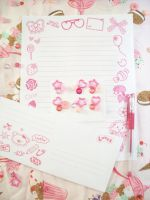 Pink Decoden Stationary Set by lessthan3chrissy
