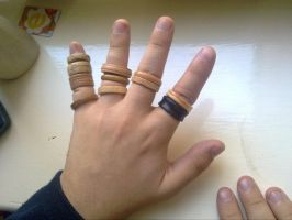 wooden ring rings by U140