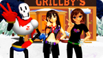 [MMD.Video] Grillby's by OniMau619