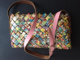 Purse with handle, Donald Duck 12 by SecondChanceCrafts