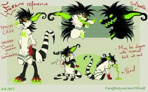 Fursona reference (UPDATED) by Xanthocephalus