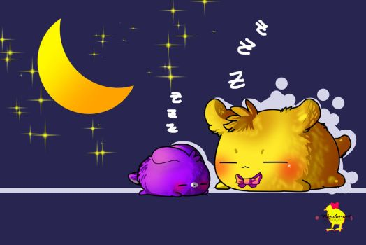 Sleeping Time [ Golden Fronnie Gift ] by Hiyoko-little-chick