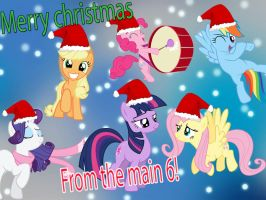 Merry Christmas from the Main 6! ^^ by Twilightsparkless