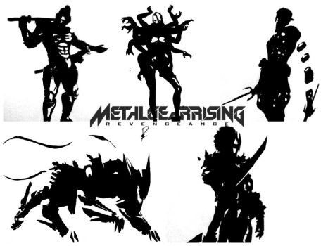 Metal gear rising Drawing by Raih4n