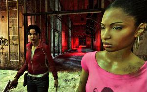 L4D Zoey and Rochelle by Ghxst-IV