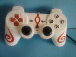 Okami PS2 control pad by knikki121