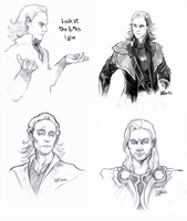 tumblr doodling-Loki and Thor by Fenchan