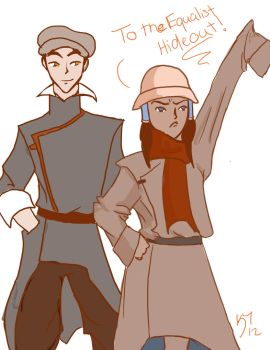 Makorra- Disguise Time! by BlackInkHeart