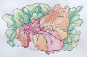 Sleeping bunnys by riikka