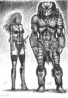 Taarna and Predator by Bugstomper86