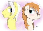 White Mane and Piper by Blissening