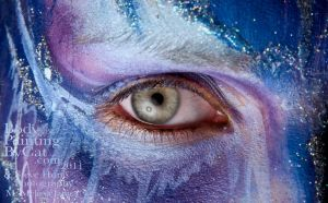 Icy Eye frost fairy make up by Bodypaintingbycatdot