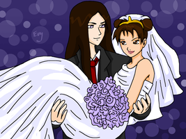 Bride and Groom by Sorceress2000