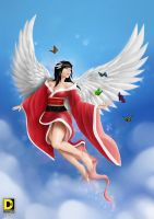 Asian's Angel (Flowing Hwang Mi Hee) by dnhart13