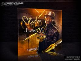 NEW MIXTAPE COVER TEMPLATE PSD by Industrykidz