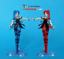 Sailor Moon Custom Cyprine and Petirol Figuarts by zelu1984