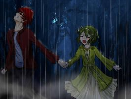 Collab: Dancing Vegatables and Meat Under the Rain by azureXtwilight-rllz